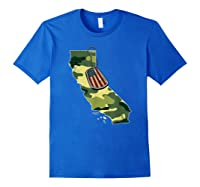 California Camouflage Veteran Pride T-shirt Royal Blue