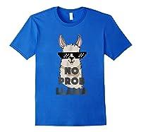 No Prob No Drama Mama Alpaca Corn Shirts Royal Blue