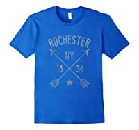 Rochester Ny T Shirt Cool Vintage Retro Style Home City Royal Blue