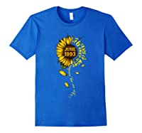 June 1993 26 Years Of Being Awesome Mix Sunflower Shirts Royal Blue