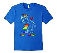 Free Mom Hugs Lgbt Mom Saurus Rainbow Gift Shirts Royal Blue