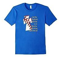 Christian Bible Verse Baseball Shirt Royal Blue