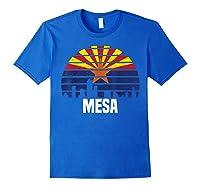 Mesa Arizona T Shirt Az Group City Silhouette Flag Tee Gift Royal Blue