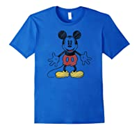 Disney Mickey Mouse Hug T Shirt Royal Blue