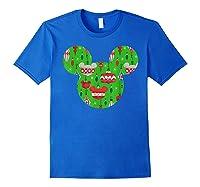 Disney Mickey Christmas Ornats T Shirt Royal Blue