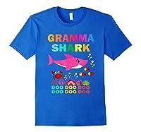 Gramma Shark, Fathers Day Gift Gramma Shark Doo Doo Do Shirts Royal Blue