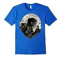 Star Wars Last Jedi Rebels Moon Silhouette Graphic T-shirt Royal Blue