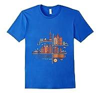 Shanghai Building S T Shirt Design Royal Blue