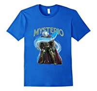 Spider Man Far From Home Mysterio Stance Shirts Royal Blue