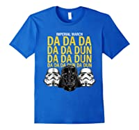 S Darth Vader Imperial March Graphic Shirts Royal Blue