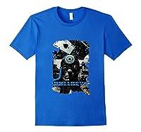 Marvel Bullseye Paint Splatter Collage Portrait Tank Top Shirts Royal Blue