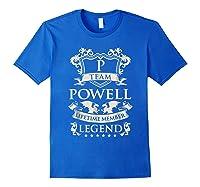 Team Powell Last Name Gifts Vintage Legend Family Tshirt Royal Blue