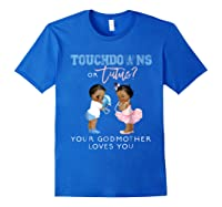 Godmother Gender Reveal Touchdown Tutu Baby Shower Shirts Royal Blue
