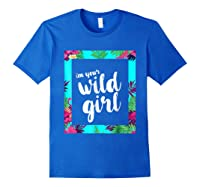 Funny Free Woman T Shirt Frame Of Flora And Fauna Royal Blue