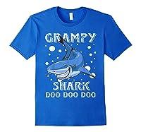 Grampy Shark Shirt Fathers Day Gift T-shirt Royal Blue