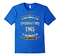 Birthday T Shirt Gift For Latino Born In 1965 Royal Blue