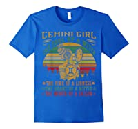 Gemini Girl The Soul Of A Witch Mouth Of A Sailor Shirts Royal Blue