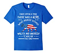 Once Upon A Time Wolf America 4th Of July T Shirt Gifts Royal Blue