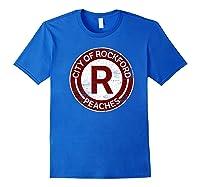 Baseball Tshirt Rockford Peaches Shirt Feminist Graphic Tees Royal Blue
