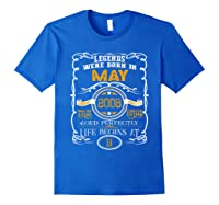 May 2008 11th Birthday Gift 11 Years Old For Shirts Royal Blue