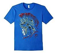 Roman Skull Praetorian Warrior Shirts Royal Blue