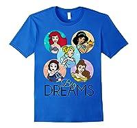 Princess Big Dreams Sparkle Character Bubbles Shirts Royal Blue