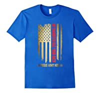 My Daughter Has Your Back. Proud Army Mom T-shirt Royal Blue