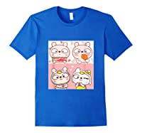 Super Cute Silly Rabbit Love Story Unisex Humor T Shirt Royal Blue