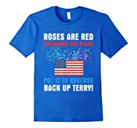 Put It In Reverse Back Up Terry Fireworks 4th Of July Shirts Royal Blue