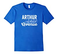 Arthur Avenue New York City Street Sign T Shirt Royal Blue