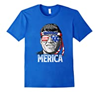 Kennedy Merica 4th Of July President Jfk Gifts Shirts Royal Blue