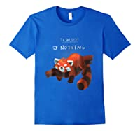 Red Panda Cute Lazy Animal To Do List Shirts Royal Blue