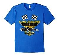 Car Racing Fanatic 500 Miles T Shirt Golden Edition Royal Blue