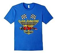 Car Racing Fanatic 500 Miles T Shirt Red Car Edition Royal Blue
