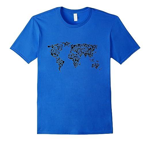Amazon guitar world map t shirt clothing guitar world map t shirt gumiabroncs Gallery