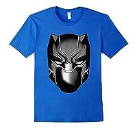 Black Panther Mask Shirts Royal Blue