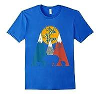 Cute Twin Bibi Bear Two Cubs Little Bears Shirts Royal Blue