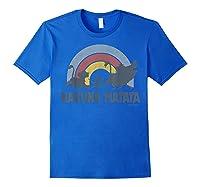 The Lion King Hakuna Matata Distressed Rainbow Logo Shirts Royal Blue