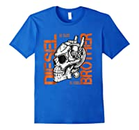 Diesel Power Truck Turbo Brothers Mechanic Shirts Royal Blue