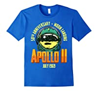 Apollo 11 50th Anniversary Shirts Royal Blue