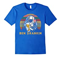 Ben Drankin 4th July Independence Day Party Shirts Royal Blue
