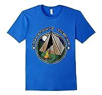 Adventure Seeker T Shirt Camping Outdoor Travel Royal Blue
