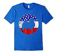 American Flag Japanese Chin Japanese Chin Dog Shirts Royal Blue