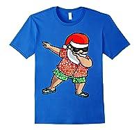 Dabbing Santa Christmas In July Hawaiian Shirt Gift Royal Blue