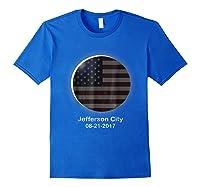 Solar Eclipse Shirt Jefferson City Mo American Flag Royal Blue