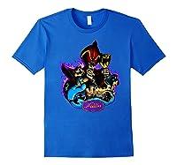 Disney Aladdin Main Cast Collage Portrait Logo Premium T-shirt Royal Blue