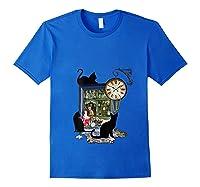 Steampunk Vintage The Clock Maker Shirts Royal Blue