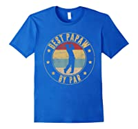 Best Papaw By Par Daddy Father's Day Gifts Golf Shirts Royal Blue