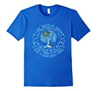 And I Think To Myself What A Wonderful World Shirts Royal Blue