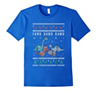Dino Ugly Christmas Sweater Xmas Dinosaur Shirts Royal Blue